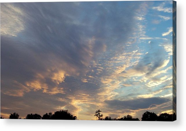 Skyscape Acrylic Print featuring the print Untitled by Beverly Baxter