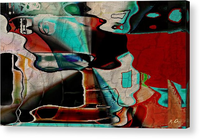 Abstract Acrylic Print featuring the digital art A Birds Eye View by Rene Avalos