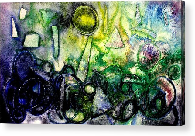 Abstract Acrylic Print featuring the mixed media Abstract Landscape IIi by John Nolan