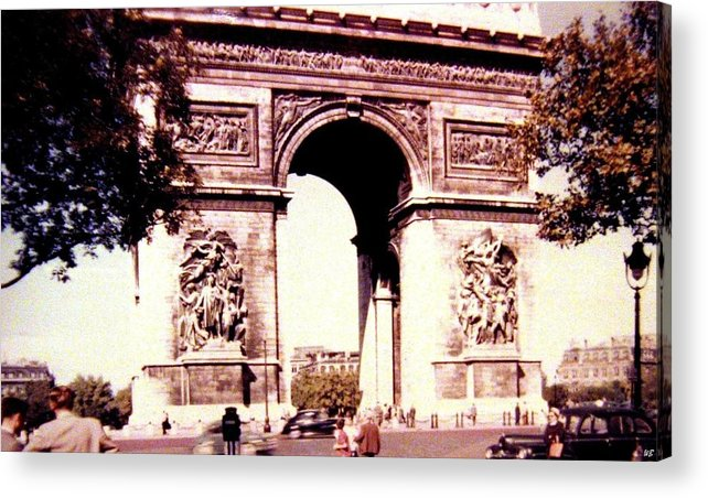 1955 Acrylic Print featuring the photograph Arc De Triomphe 1955 by Will Borden