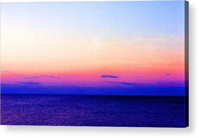 Landscape Acrylic Print featuring the digital art Blend Above The Lake 233 by Lyle Crump