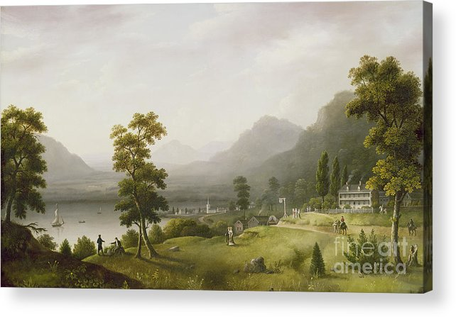 Carter Acrylic Print featuring the painting Carter's Tavern At The Head Of Lake George by Francis Guy