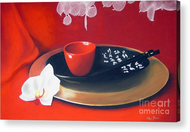 Still Life Acrylic Print featuring the painting Chopsticks by Colleen Brown