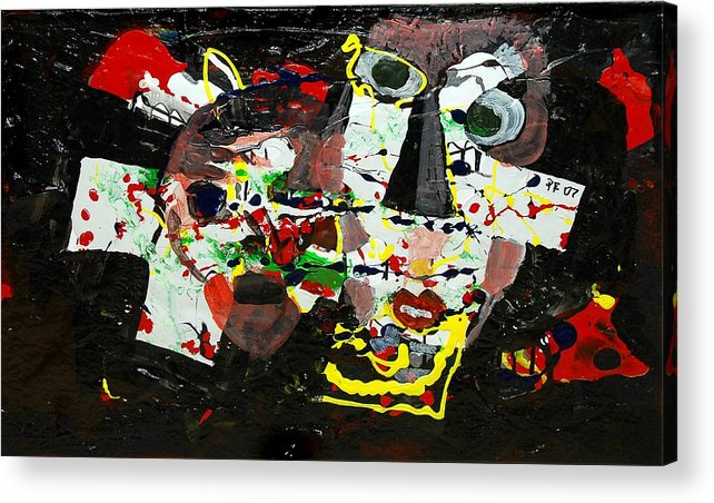 Abstract Acrylic Print featuring the painting Collage 2 by Paul Freidin