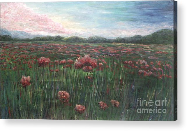 France Acrylic Print featuring the painting French Poppies by Nadine Rippelmeyer