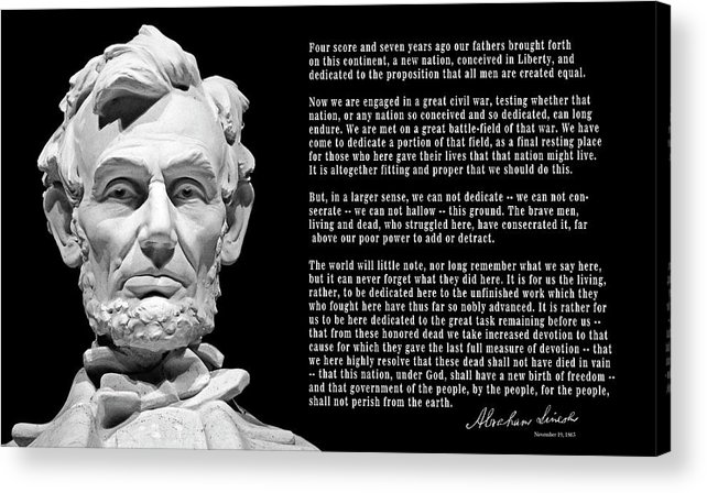Lincoln Acrylic Print featuring the photograph Gettysburg Address 1863 by Daniel Hagerman