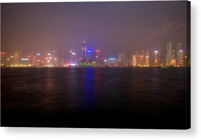 Harbor Acrylic Print featuring the photograph Hong Kong Harbor December 2 by Brad Rickerby