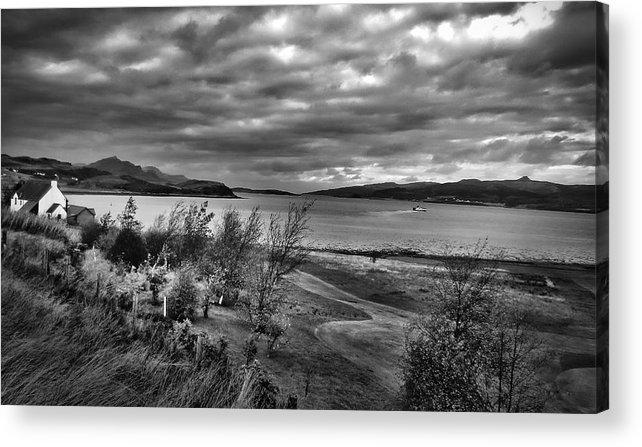 Skye Acrylic Print featuring the photograph Inland Sea At Skye by David Resnikoff