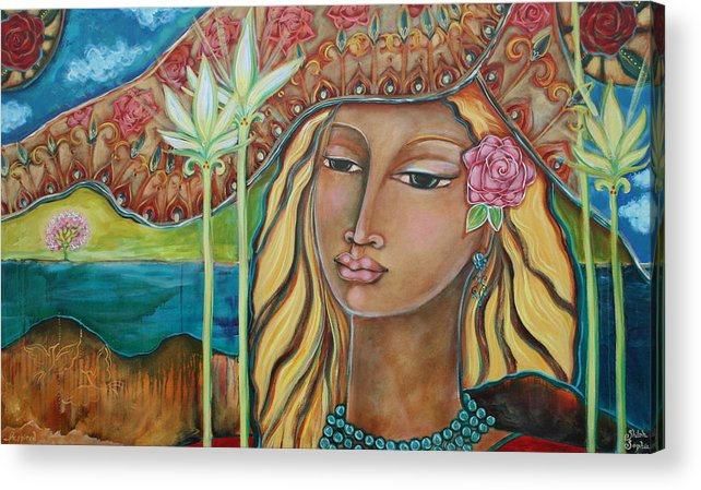 Inspirational Art Acrylic Print featuring the painting Inspired by Shiloh Sophia McCloud