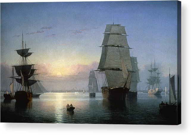 1850s Acrylic Print featuring the photograph Lane: Boston Harbor by Granger