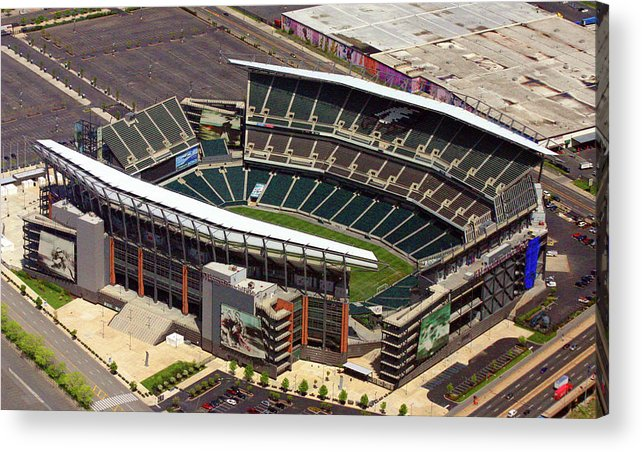 Lincoln Financial Field Acrylic Print featuring the photograph Lincoln Financial Field Philadelphia Eagles by Duncan Pearson