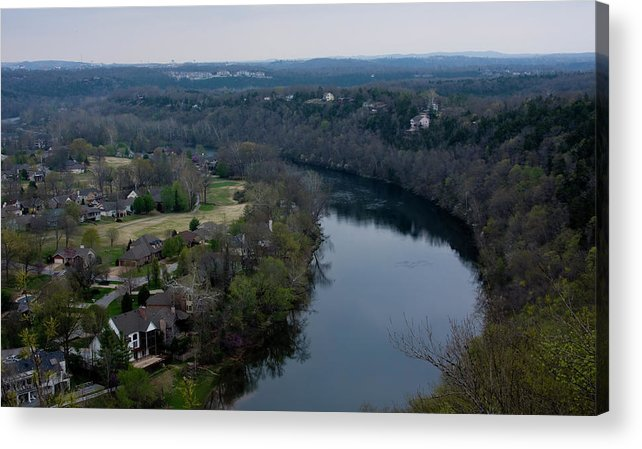 Table Rock Lake In Branson Missouri Acrylic Print featuring the photograph Living On The Lake by Gwen Vann-Horn