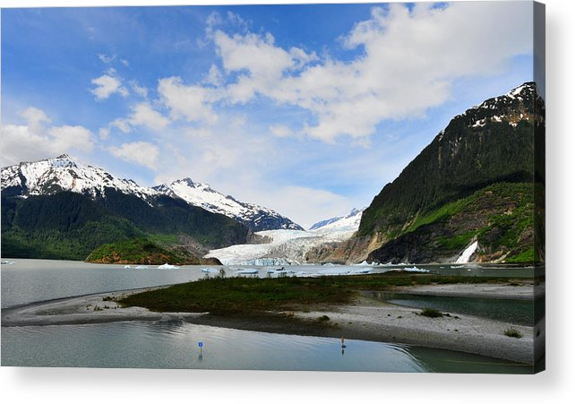 Mendenhall Acrylic Print featuring the photograph Mendenhall Glacier by Keith Gondron
