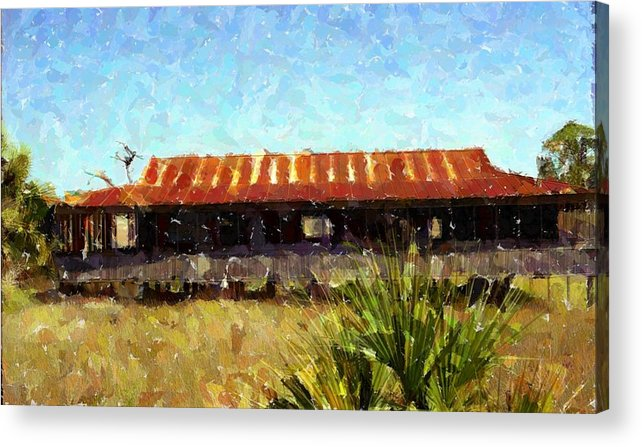 Old Florida Acrylic Print featuring the photograph Old Florida Paint by Michael Morrison