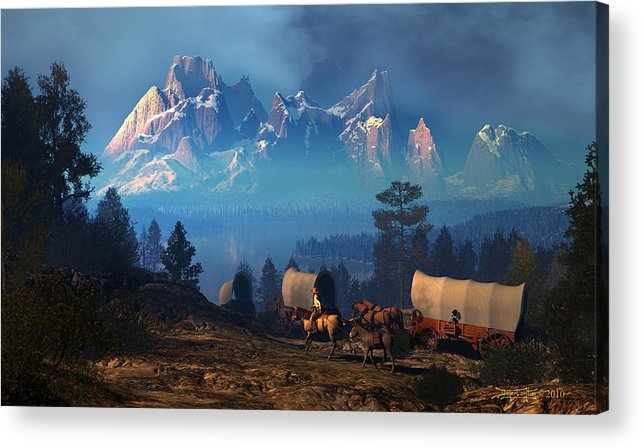 Dieter Carlton Acrylic Print featuring the digital art Once But Long Ago by Dieter Carlton