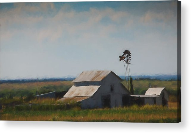 Barn Acrylic Print featuring the painting Plains Painted Barn by Jonas Wingfield