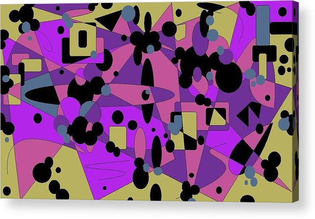 Digital Abstract Acrylic Print featuring the digital art Pretty Picture by Jordana Sands