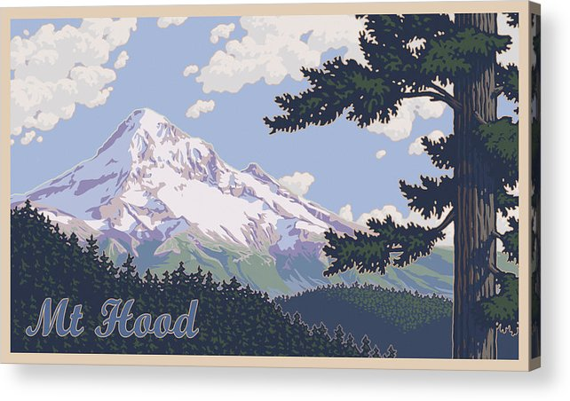 Mount Acrylic Print featuring the photograph Retro Mount Hood by Mitch Frey