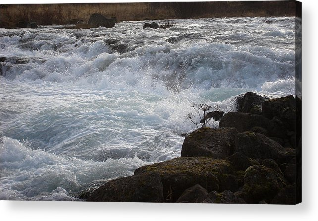 Nature Acrylic Print featuring the photograph Rushing Water by Marilynne Bull