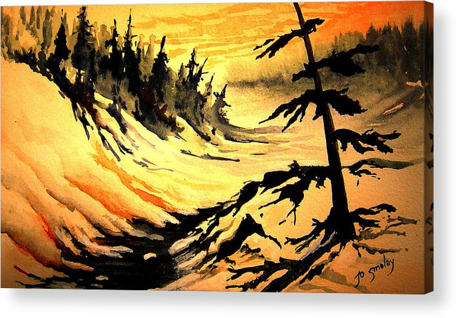 Sunset Extreme Acrylic Print featuring the painting Sunset Extreme by Joanne Smoley