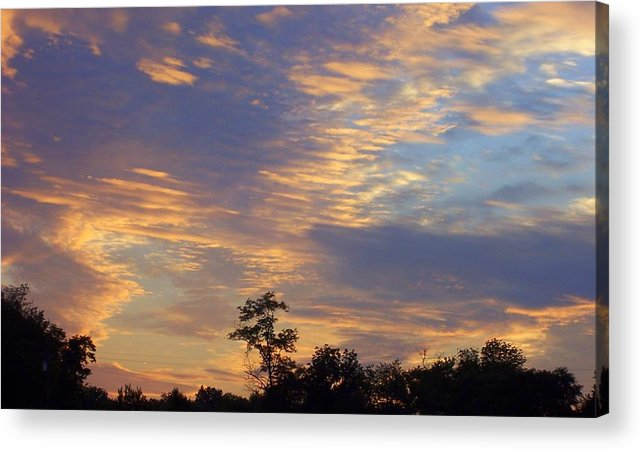 Sunset Acrylic Print featuring the print Tennessee Sunset by Beverly Baxter