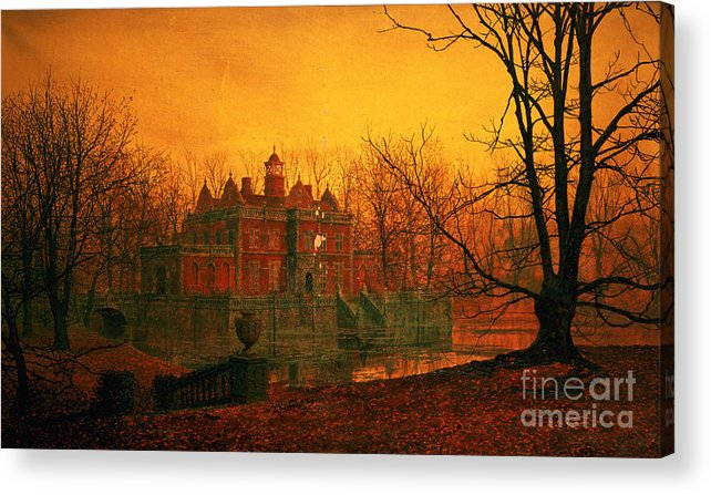 Bal9665 Acrylic Print featuring the painting The Haunted House by John Atkinson Grimshaw