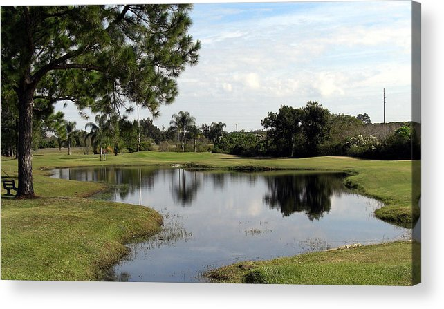 Landscape Photographs Acrylic Print featuring the photograph Tranquil Pool by Frederic Kohli