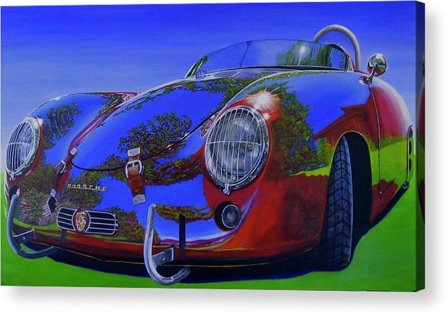 Car Acrylic Print featuring the painting Tub Effects by Lynn Masters
