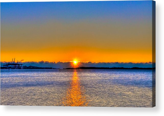 Miami Acrylic Print featuring the photograph Virginia Key Sunrise by William Wetmore