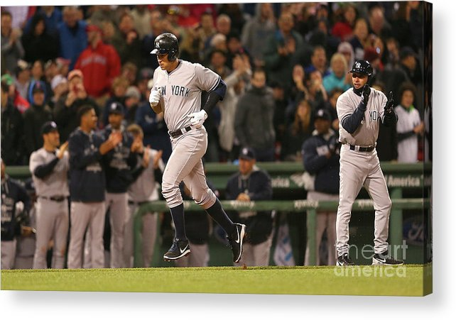 People Acrylic Print featuring the photograph New York Yankees V Boston Red Sox 14 by Jim Rogash