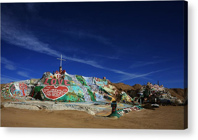 Salvation Mountain Acrylic Print featuring the photograph Salvation Mountain by Laurie Search