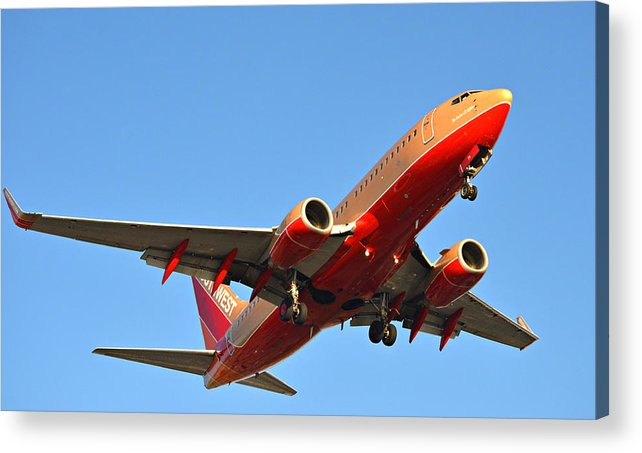 Aviation Acrylic Print featuring the photograph Southwest Rising by Fraida Gutovich