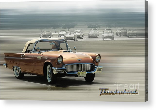 Thunderbird Acrylic Print featuring the photograph Thunderbird Tribute by Kelly Morrow