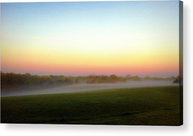 Fog Acrylic Print featuring the photograph Fields Of Fog by Cricket Hackmann