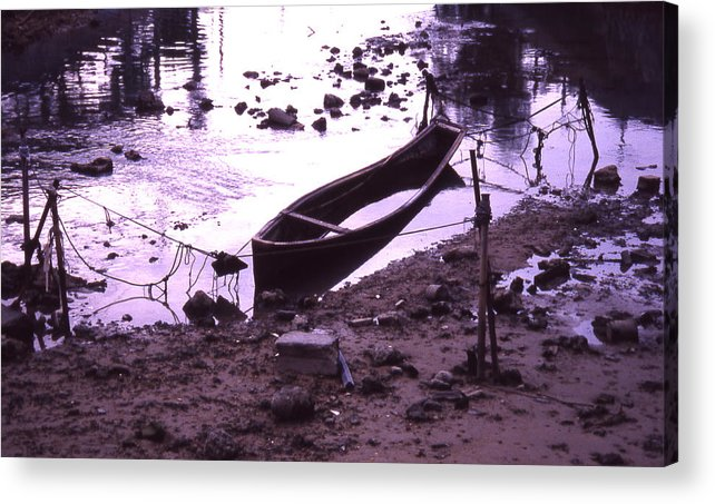 Acrylic Print featuring the photograph Okinawa Canoe Parking by Curtis J Neeley Jr