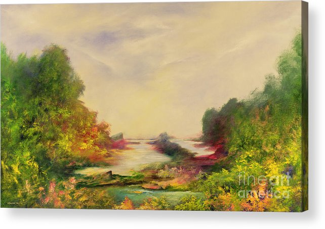 Valley Acrylic Print featuring the painting Summer Joy by Hannibal Mane