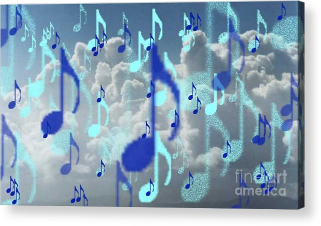 Acrylic Print featuring the digital art The Greater Clouds Of Witnesses We Love The Blues Too by Brenda L Spencer
