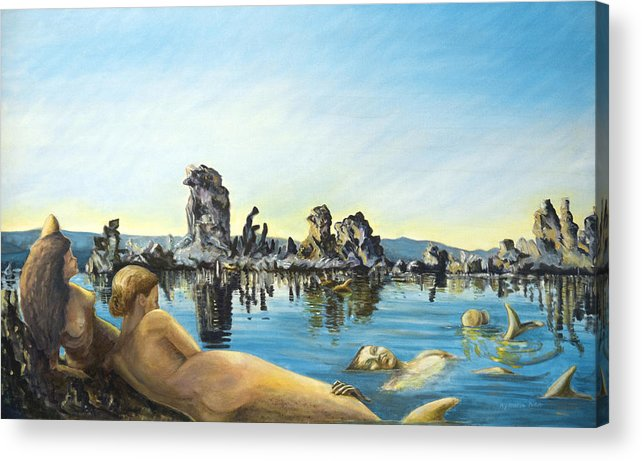 Seascape Acrylic Print featuring the painting Anima by Aymeric NOA