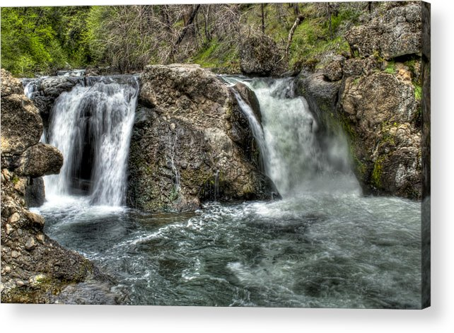 Water Acrylic Print featuring the photograph Deer Creek Falls by Ren Alber
