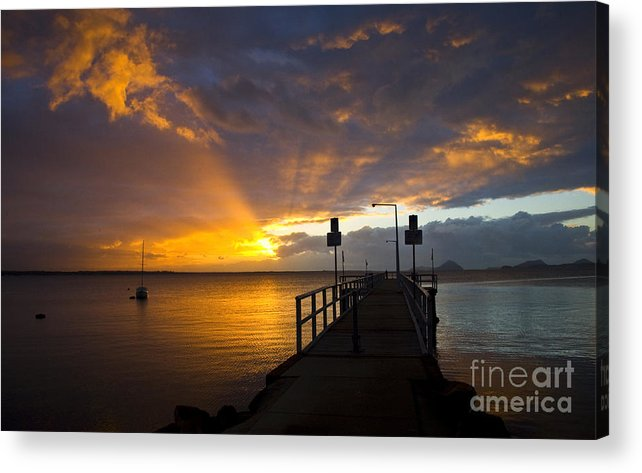 Sunrise Acrylic Print featuring the photograph Salamander Bay Sunrise by Sheila Smart Fine Art Photography