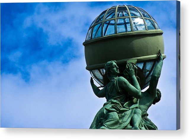 The Sky Acrylic Print featuring the photograph Spinning The Earth by Vadim Grabbe