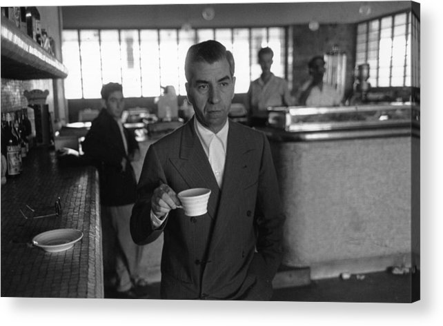 People Acrylic Print featuring the photograph Lucky Luciano 12 by Slim Aarons