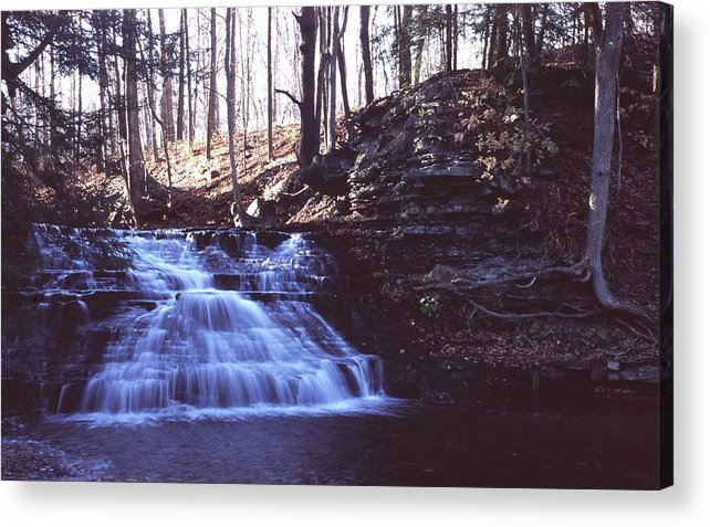 Waterfall Acrylic Print featuring the photograph 111401-4 by Mike Davis