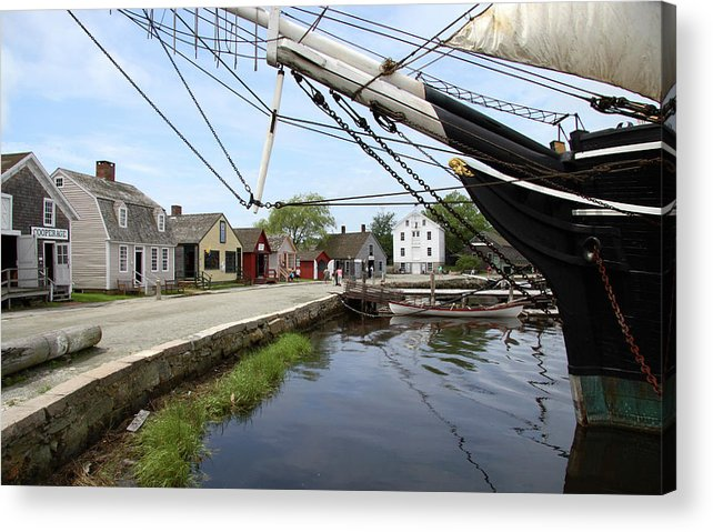 Mystic Acrylic Print featuring the photograph Mystic Seaport Village by Steven David Roberts