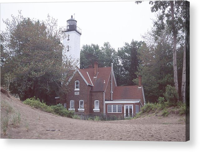Forty Mile Point Light Acrylic Print featuring the photograph Forty Mile Point Light by Herbert Gatewood