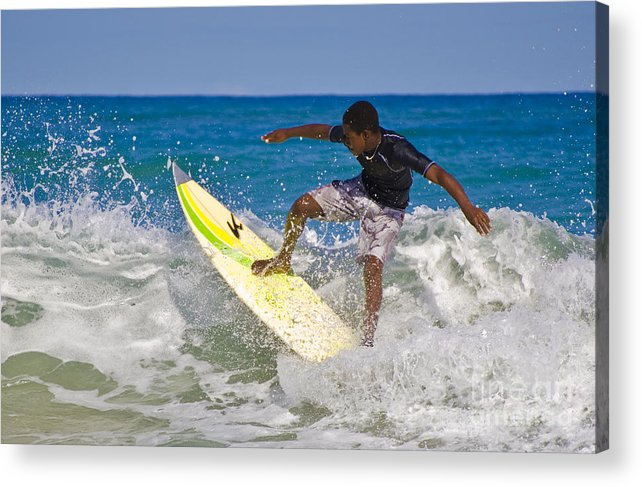Surfing Acrylic Print featuring the photograph Alex 16 Year Old Pro Surfer by John Lee Montgomery III