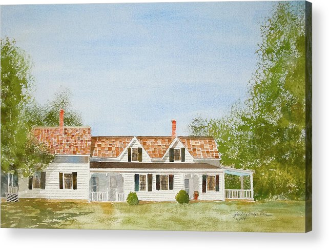 Cape Cod Acrylic Print featuring the painting Chatham House II by Harding Bush