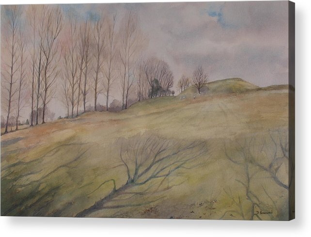 Shadows Acrylic Print featuring the painting March Shadows by Debbie Homewood
