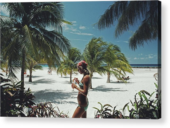 Three Quarter Length Acrylic Print featuring the photograph Sarah Marson Williams by Slim Aarons