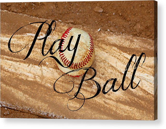 Play Acrylic Print featuring the photograph Play Ball by Tina Meador